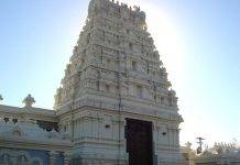 Facciata di un tempio indù