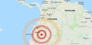 sud america terremoto ecuador perù