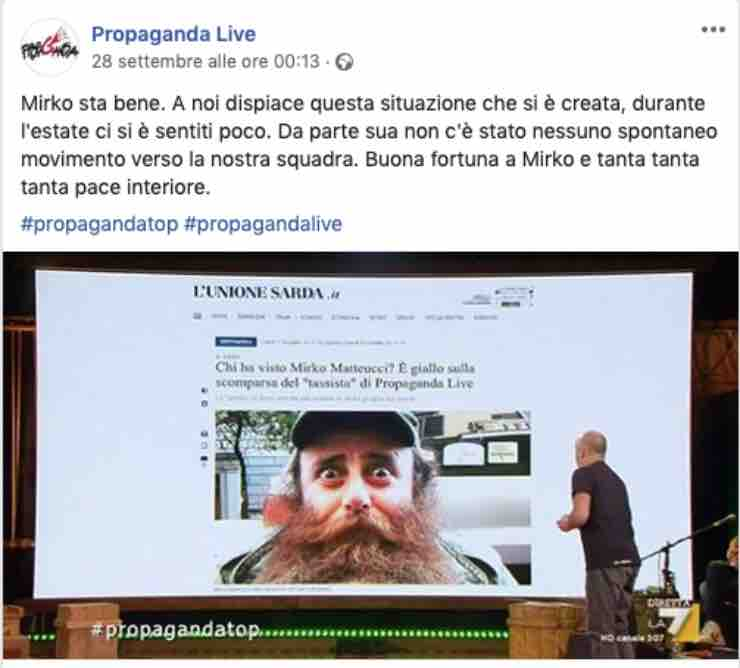 Propaganda Live - riecco Missouri 4: il video di Mirko Matteucci