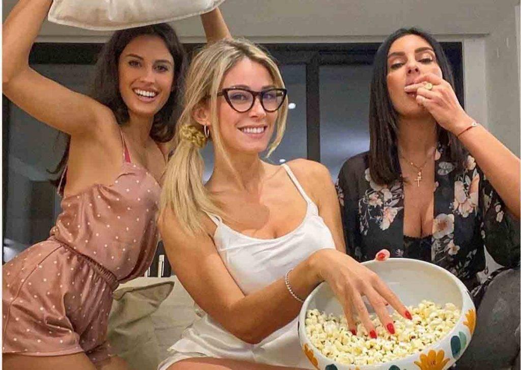 Diletta Leotta pigiama party