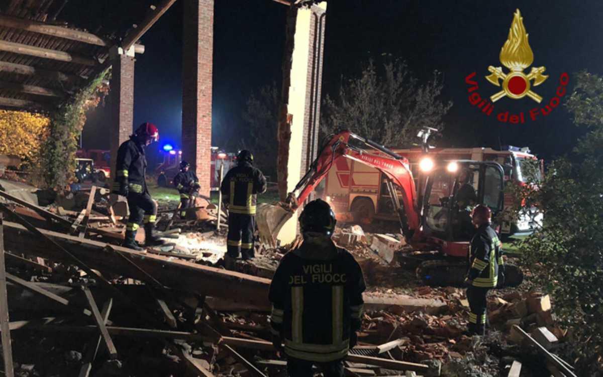 Esplosione cascina in provincia di Alessandria