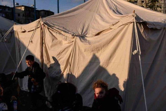 Sfollati in tenda