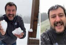 Matteo Salvini neve