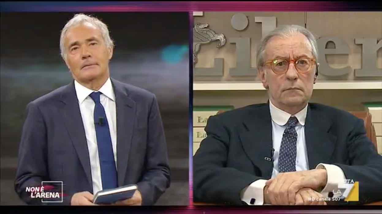 """Non è l'arena, Vittorio Feltri: """"In un Paese che va a puttane..."""" - VIDEO"""