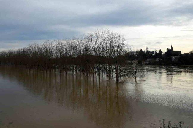 Effetti della pioggia consistente nei campi