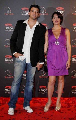 Miriana Trevisan con l'ex marito Pago
