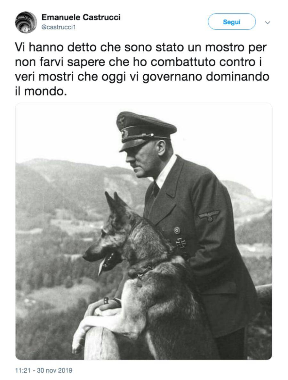 Tweet di Emanuele Castrucci