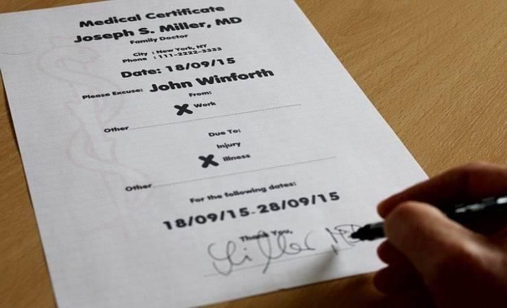 Certificato medico malattia Inps 2020