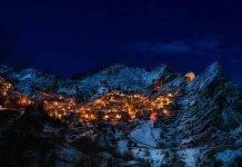 Paesaggio invernale di Castelmezzano