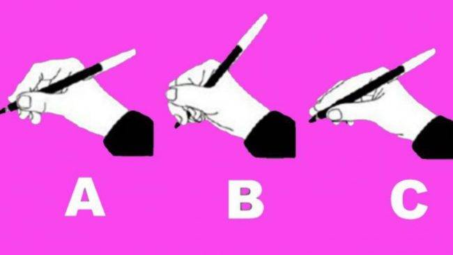 Test psicologico: come tieni la penna ?