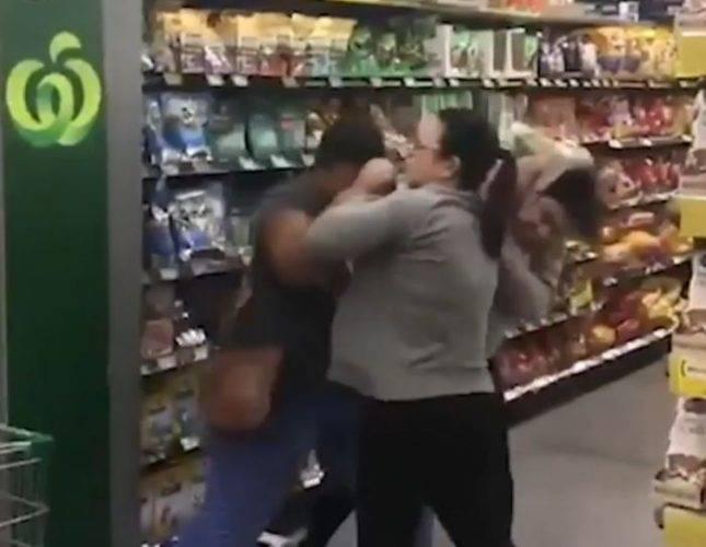Rissa nel supermercato (Screenshot Le Iene)