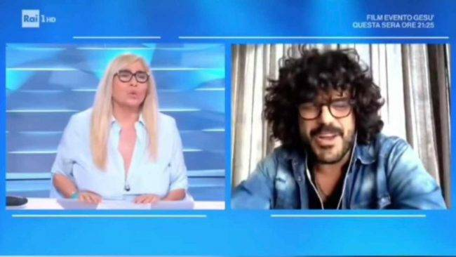 Mara Venier e Francesco Renga a Domenica In
