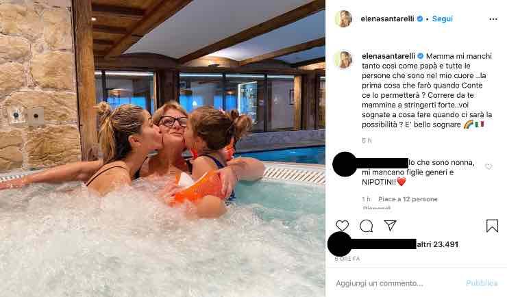 """Elena Santarelli, tenera dedica alla sua mamma: """"Mi manchi"""""""