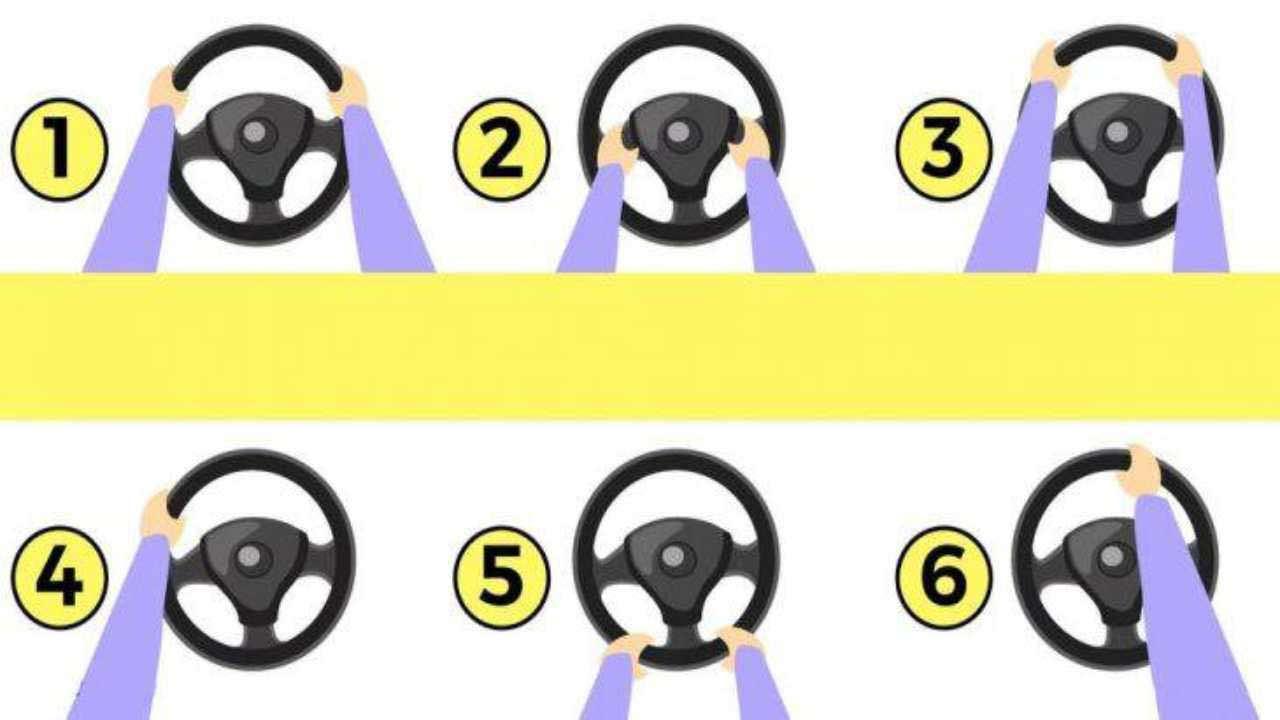 Test personalità: come guidi e tieni il volante può dirti chi sei