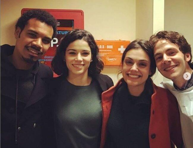 Alessandro Sperduti e il cast di Nero a metà (fonte da Instagram @alesperduti)