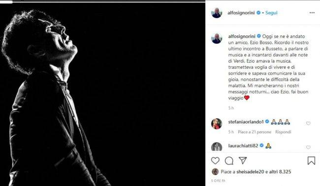 Ezio Bosso (fonte da Instagram @alfonsosignorini)(1)