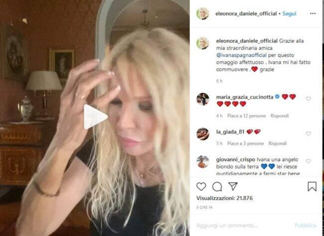 Ivana Spagna omaggia Carlotta (fonte Instagram @eleonora_daniele_official)