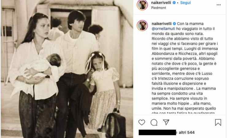 """Naike Rivelli, post intenso con Ornella Muti: """"mai scesa a compromessi"""""""