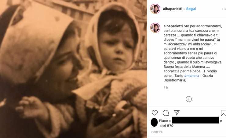 Alba Parietti, il lutto fa male nel suo cuore oggi più di ieri