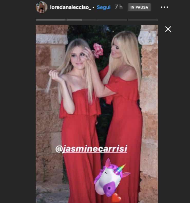 Jasmine Carrisi, come due gocce d'acqua: così non si distinguono