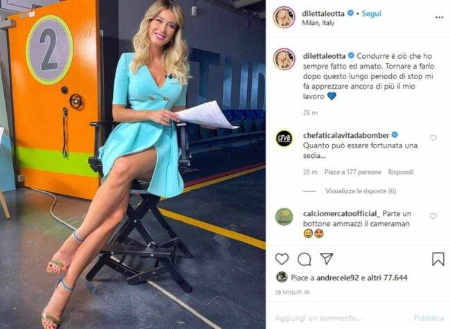 Diletta Leotta (fonte da Instagram @dilettaleotta)