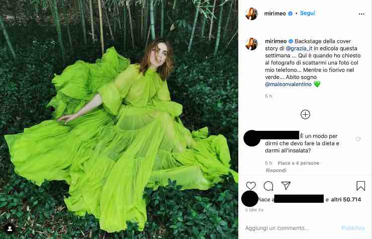 Miriam Leone splendida immersa nella natura, ma i fan non perdonano