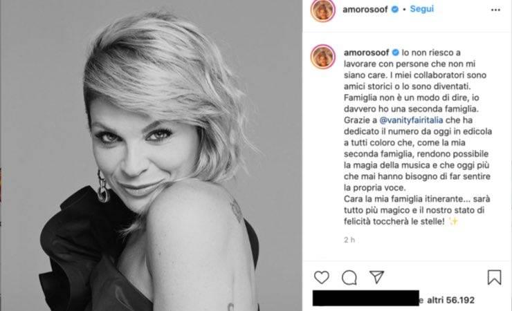 """Alessandra Amoroso, la """"seconda famiglia"""": messaggio da brividi"""