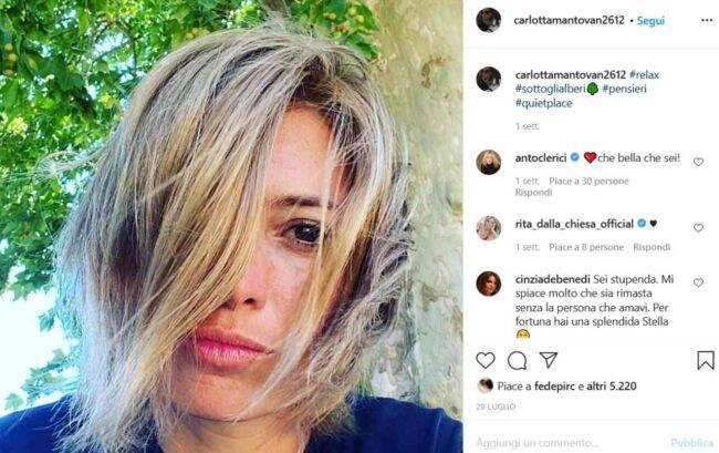 Carlotta Mantovan (fonte Instagram @carlottamantovan2612)