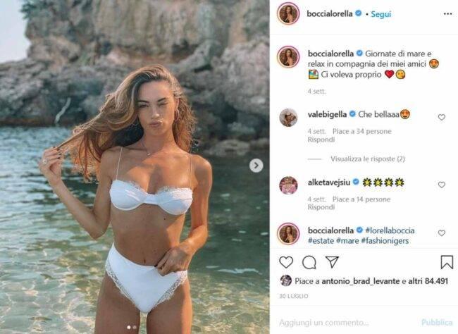 Lorella Boccia (fonte Instagram @boccialorella)