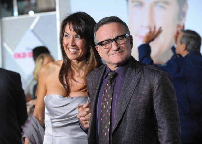 Susan Schneider e Robin Williams