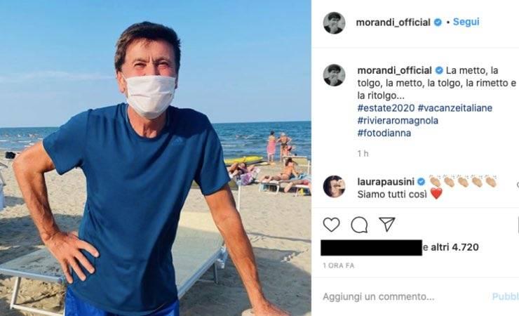 """Gianni Morandi """"la metto, la tolgo"""": l'esempio colpisce i fan"""