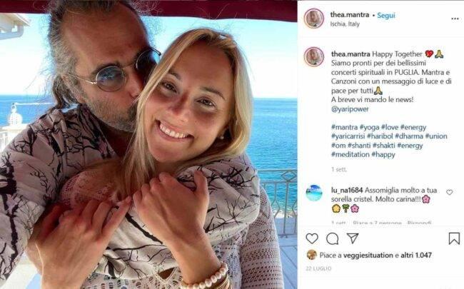 Thea Crudi e Yari Carrisi (fonte Instagram @theacrudi)