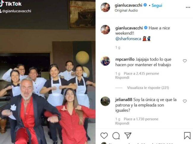 Gianluca Vacchi (fonte Instagram @gianlucavacchi)