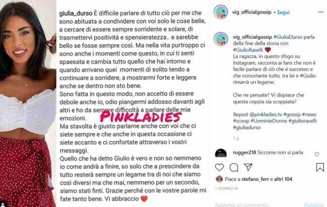 Giulia D'Urso (fonte Instagram @vig_officialgossip)