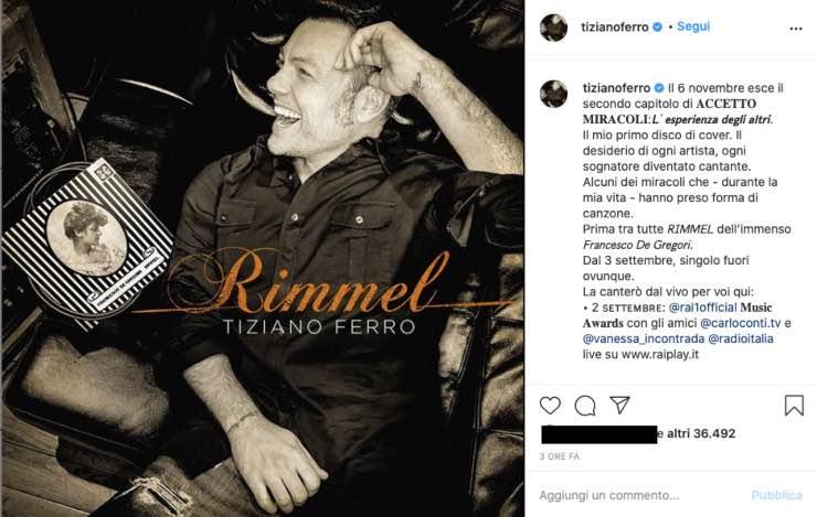 """Tiziano Ferro tra sogni e miracoli: il """"regalo"""" emoziona i fan"""