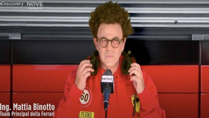"""Crozza 'svela' il problema Ferrari: """"Sarà l'antifurto"""", ironia virale"""