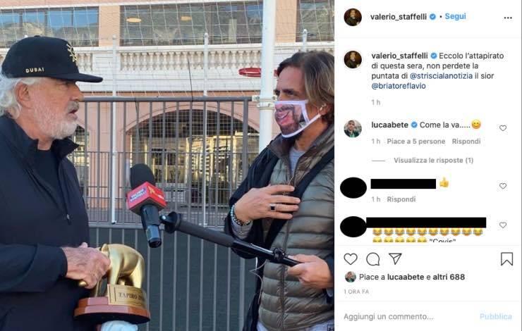 Flavio Briatore- Striscia arriva il tapiro replica alla Gregoraci
