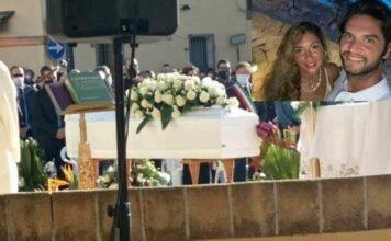 """Omicidio Lecce: l'ultimo saluto a Eleonora, era in abito da sposa """"guarda quanto dolore"""""""