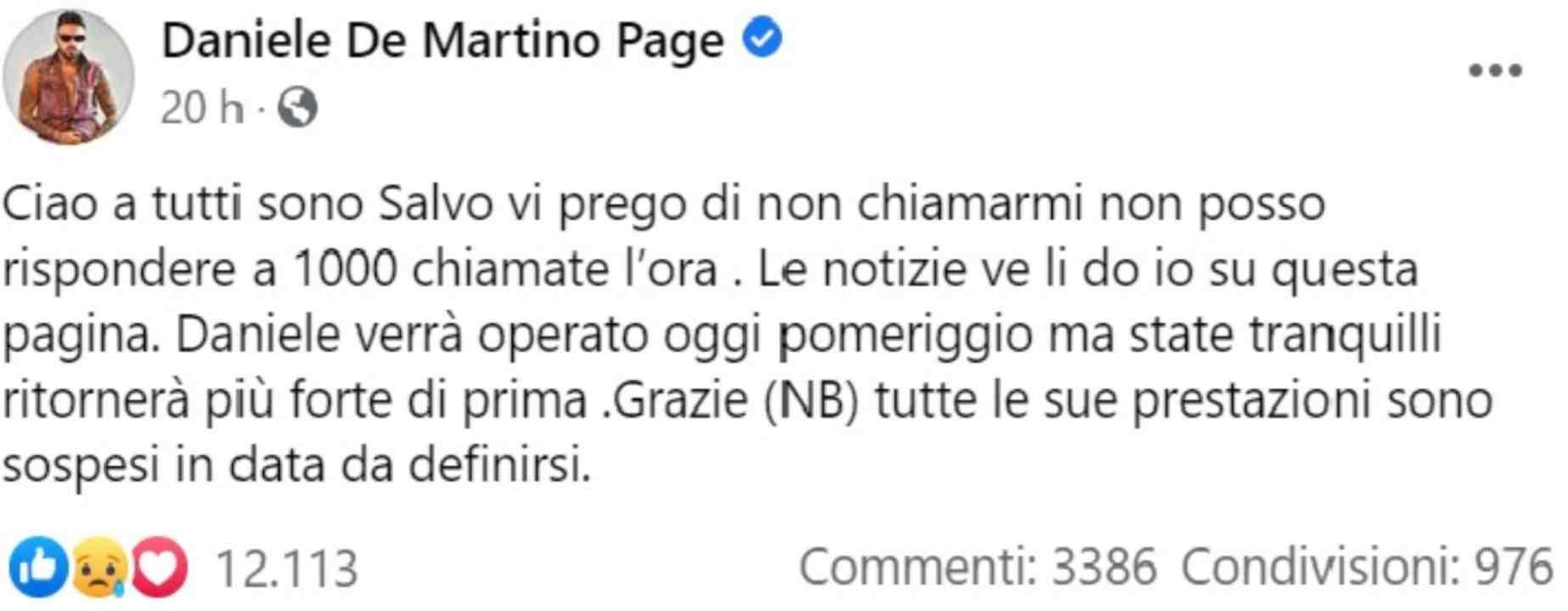 Daniele De Martino post