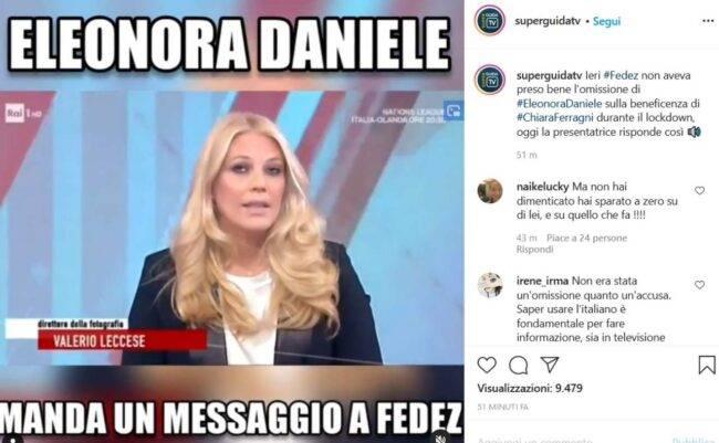 Eleonora Daniele (fonte Instagram @superguidatv)