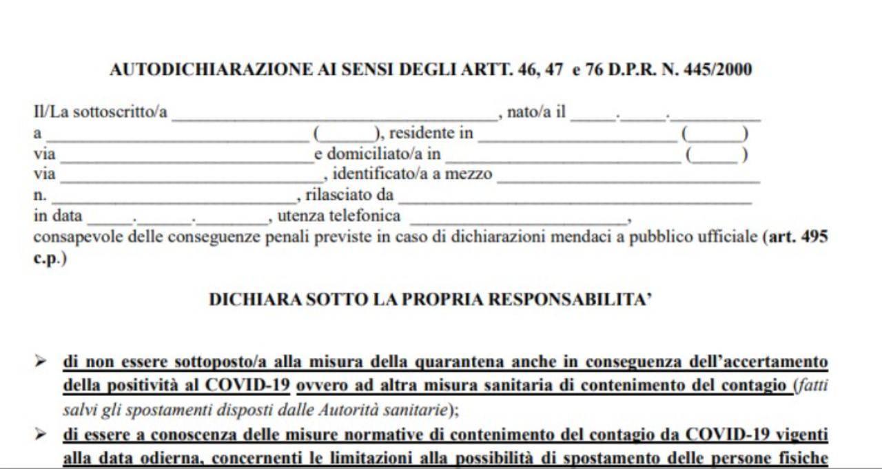 Autocertificazione regione Lazio: come sccaricare il modulo