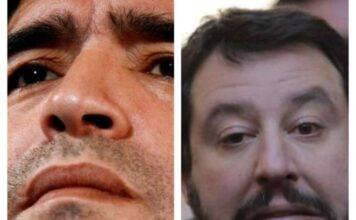Morte Maradona |  la doppia faccia di Salvini |  ieri nemico |  oggi eroe
