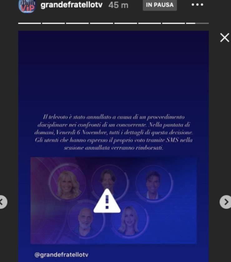 GF Vip cambia tutto: televoto sospeso, arriva la squalifica?
