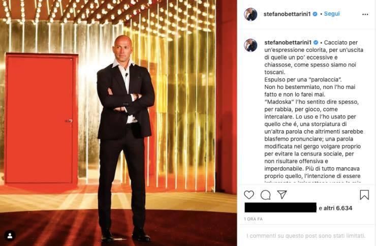 """Stefano Bettarini vs GF Vip, non ci sta all'esclusione: """"preso in giro"""""""