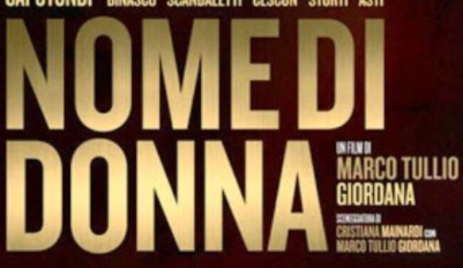 Nome di Donna stasera su rai uno