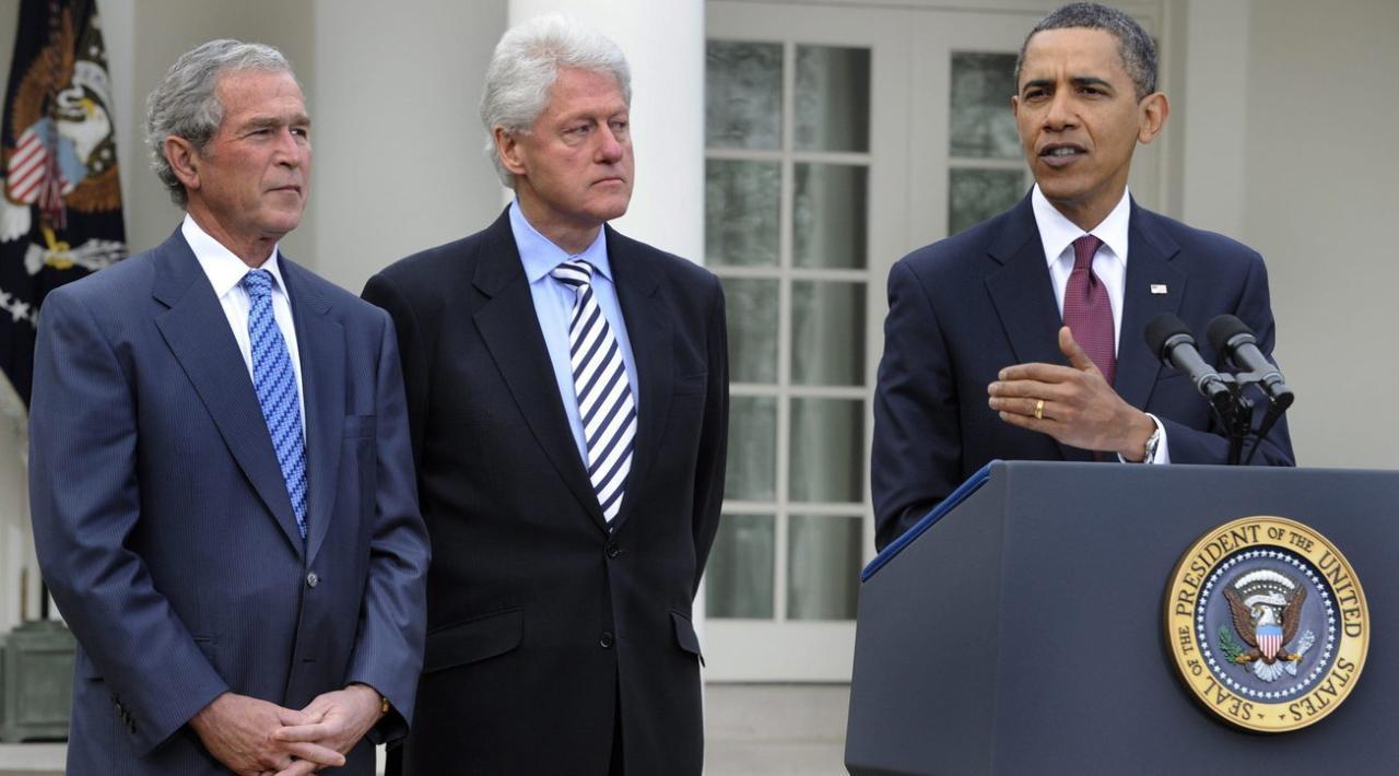 Tre presidenti Usa