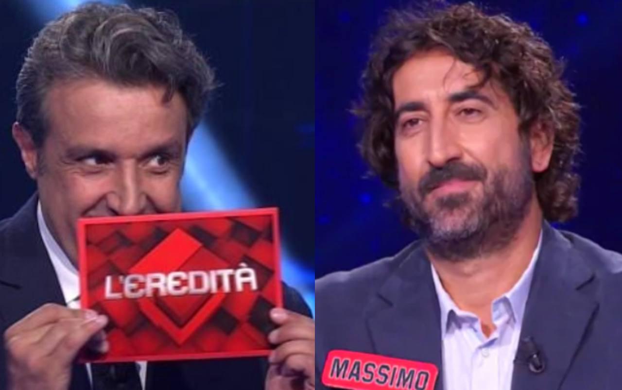 """L'Eredità, """"mi ha depistato"""": cifra blu sfiorata dal campione Massimo"""