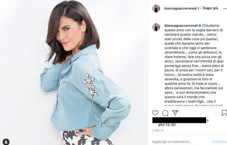 """Bianca Guaccero guarda al passato con malinconia: """"fa male al cuore"""""""