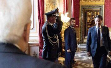 Il premier Giuseppe Conte a colloquio con il Presidente della Repubblica