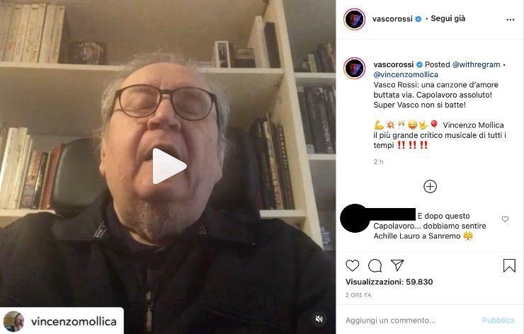 """Vasco Rossi, Vincenzo Mollica commuove: """"La verità che porta dentro"""""""